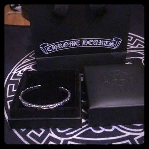 Chrome Hearts Black Hearted bracelet